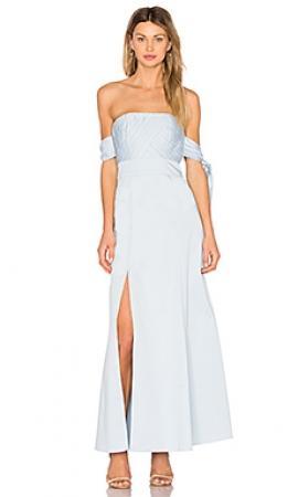 Платье  Нежно-голубой цвета
