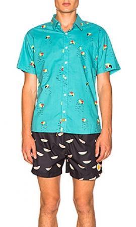 320979d73fe08f8 Бирюзового мужские рубашки Ambsn купить в интернет магазине ...