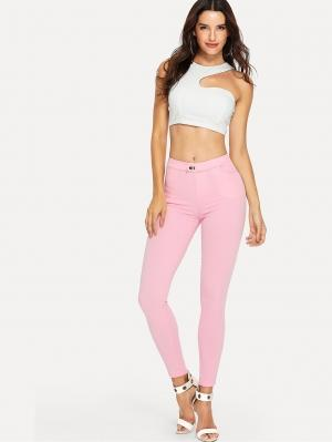 Джинсы  Розовый цвета