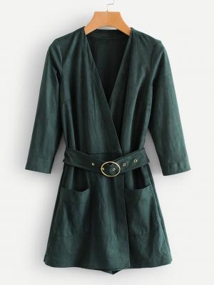 Комбинезон  Зеленый цвета