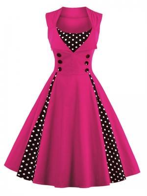 Платье  ярко-розовый цвета