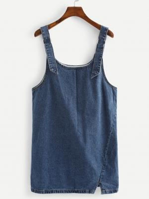 Джинсовое платье  Синие цвета