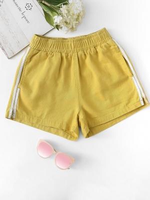 Джинсовые шорты  Имбирный цвета