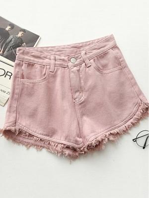 Джинсовые шорты  Розовый цвета