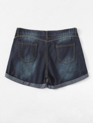 Джинсовые шорты  Синий цвета
