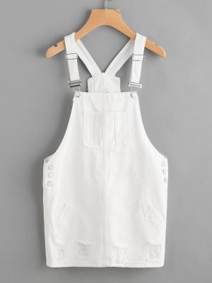 Джинсовое платье  Белые цвета