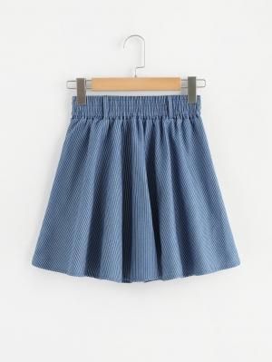 Джинсовая юбка  Синий цвета