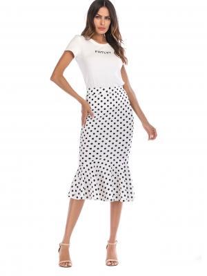 Джинсовая юбка  Чёрнобелые цвета