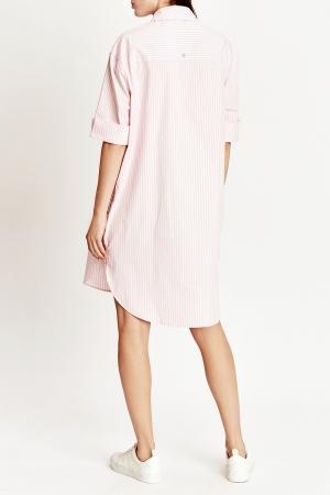 Платье-рубашка  розовый цвета