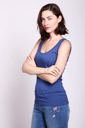 Топ  - Синий цвет