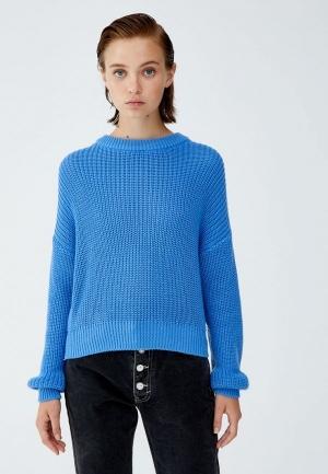 Джемпер  голубой цвета