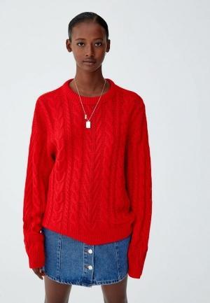 Джемпер  красный цвета