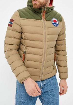 Куртка утепленная  - бежевый цвет
