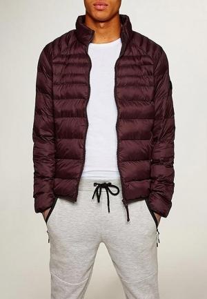 Куртка утепленная  бордовый цвета
