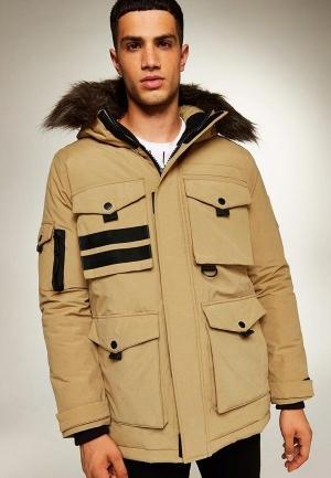 Куртка утепленная  бежевый цвета