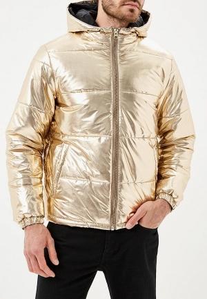 Куртка утепленная  золотой цвета