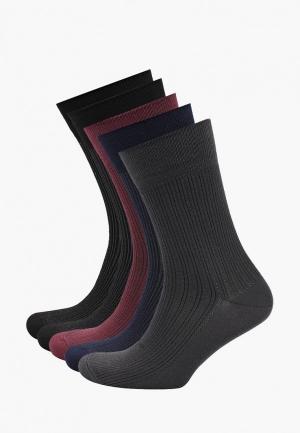 Носки  бордовый, серый, синий, черный цвета