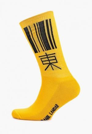 Носки  желтый цвета