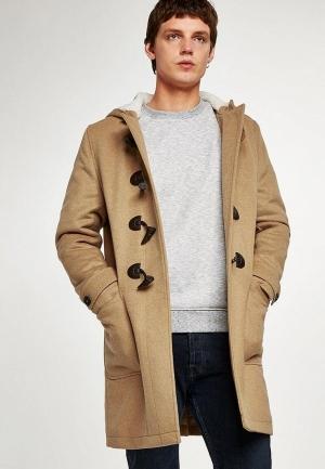 Пальто  бежевый цвета