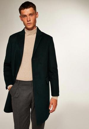 Пальто  зеленый цвета