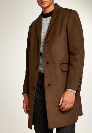 Пальто  коричневый цвета