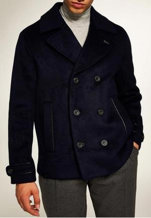 Пальто  синий цвета