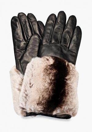 Перчатки  коричневый, черный цвета