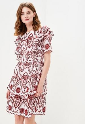 ea04ad2a75a3 Платье NA018EWZJR00 белого цвета Naf Naf за 4 140 руб. купить в ...