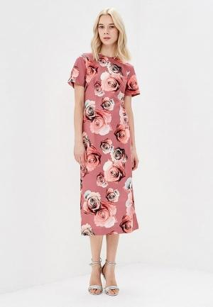 Платье  розовый, серый, черный цвета
