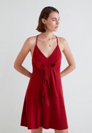 Сарафан  красный цвета