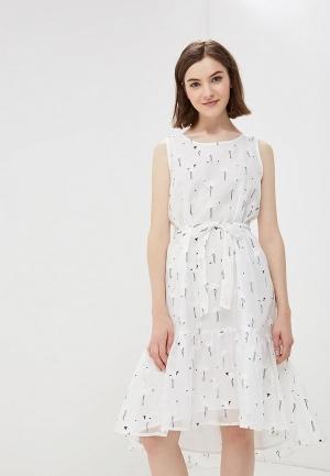 Платье  белый цвета