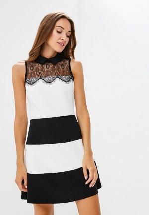Платье  белый, черный цвета