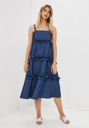 Сарафан  - синий цвет