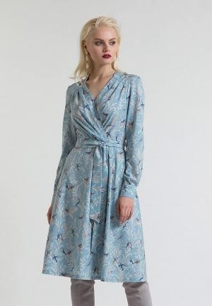 Платье  голубой цвета
