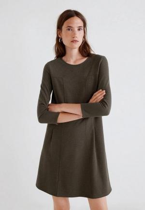 Платье  хаки цвета