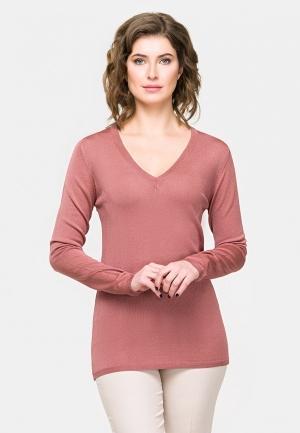 Пуловер  розовый цвета