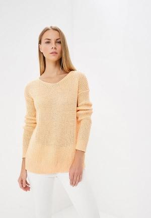 Пуловер  оранжевый цвета