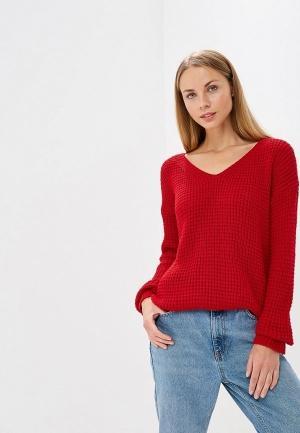 Пуловер  красный цвета