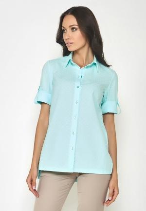 Рубашка  бирюзовый цвета