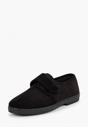 Тапочки  черный цвета