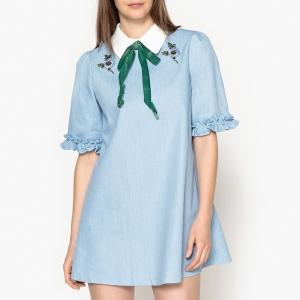 Платье  деним цвета