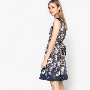 Платье без рукавов с круглым вырезом и цветочным рисунком  TOM TAILOR