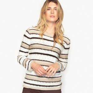 Пуловер  в полоску разноцветный цвета