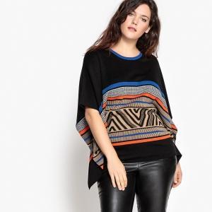 Пуловер  разноцветный рисунок цвета