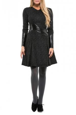 Платье  Черно-серый, черный цвета
