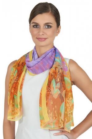 Палантин  Желтый, фиолетовый цвета