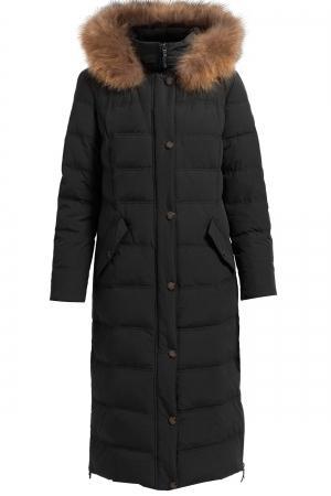 Пальто  - светло-бежевый,черный цвет