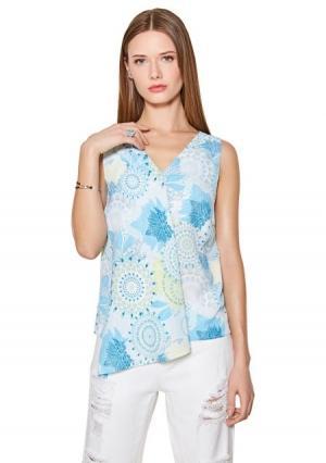 Блузка  разноцветный (цветной) цвета