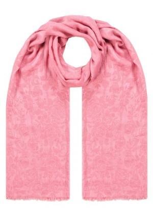 Палантин  розовый цвета