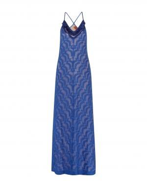 Длинное платье  Синий цвета